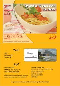 Spaghettiavond t.v.v. Marleen Van de Voorde in Albanië @ SOCK   Kaprijke   Vlaanderen   België