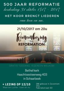 Herdenking 500 jaar reformatie @ Bethel Kerk Schaarbeek | Schaarbeek | Brussels Hoofdstedelijk Gewest | België