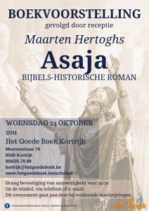 Boekvoorstelling 'Asaja' met Maarten Hertoghs @ Het Goede Boek Kortrijk | Kortrijk | Vlaanderen | België