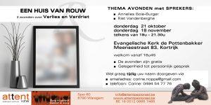 Huis van Rouw @ Evangelische Gemeente De Pottenbakker, 8500 Meensestraat 83 Kortrijk